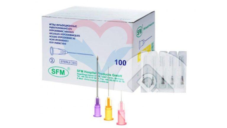 SFM Игла одноразовая инъекционная стерильная 19G (1