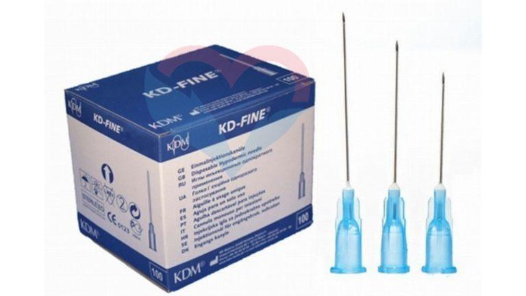 KD-Fine Игла одноразовая инъекционная стерильная 27G (0