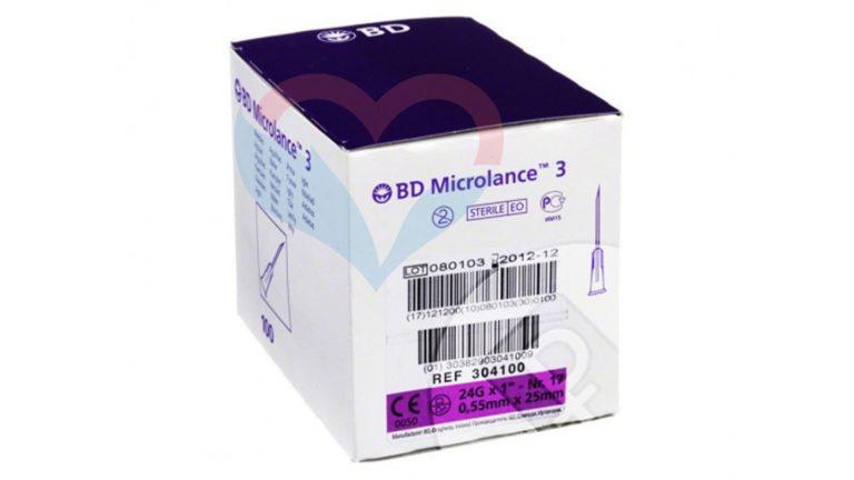 BD Microlance Игла одноразовая инъекционная стерильная 24G (0