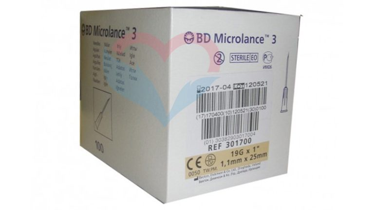 BD Microlance Игла одноразовая инъекционная стерильная 19G (1