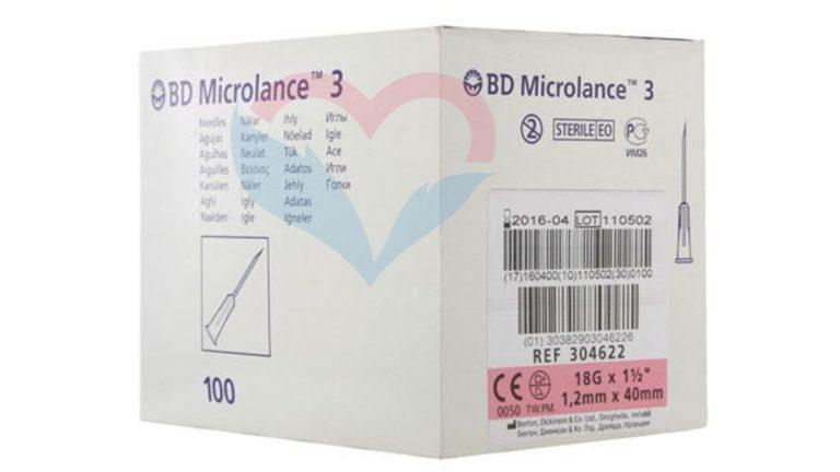 BD Microlance Игла одноразовая инъекционная стерильная 18G (1