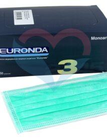 EURONDA Маска трехслойная на резинках