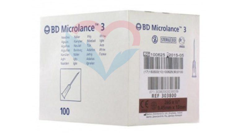 BD Microlance Игла одноразовая инъекционная стерильная 26G (0