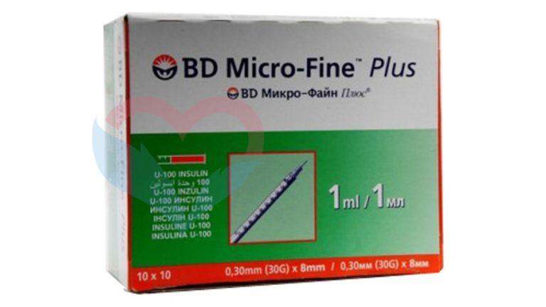 BD Micro-Fine Plus Шприц (3-комп.) 1мл U40