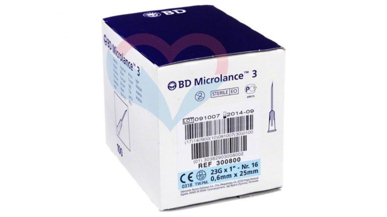 BD Microlance Игла одноразовая инъекционная стерильная 23G (0