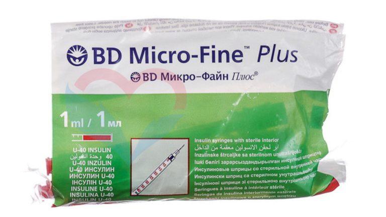 BD Micro-Fine Plus Шприц (3-комп.) 1мл U100