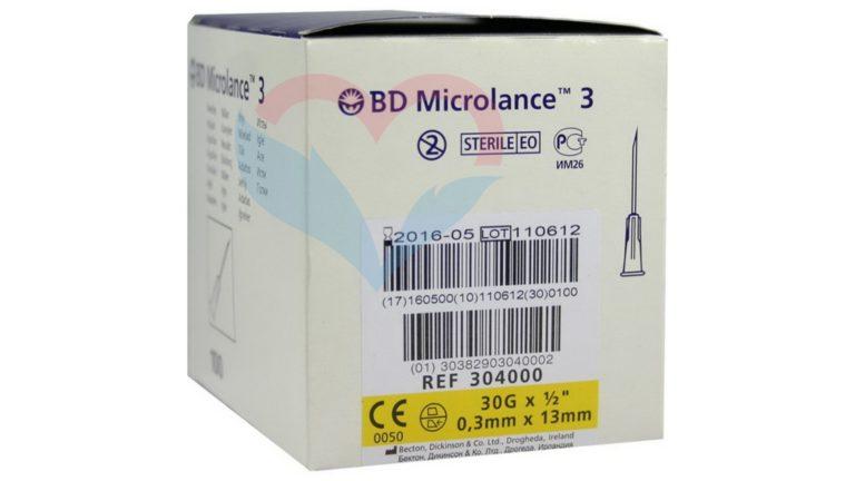 BD Microlance Игла одноразовая инъекционная стерильная 30G (0