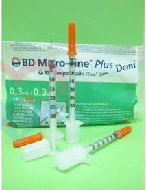 BD Micro-Fine Plus Шприц (3-комп.) 0