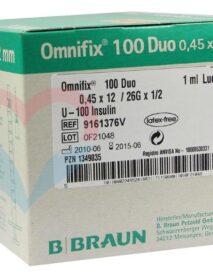 B.Braun Omnifix 100 Duo Шприц (3-х комп.) 1мл U100