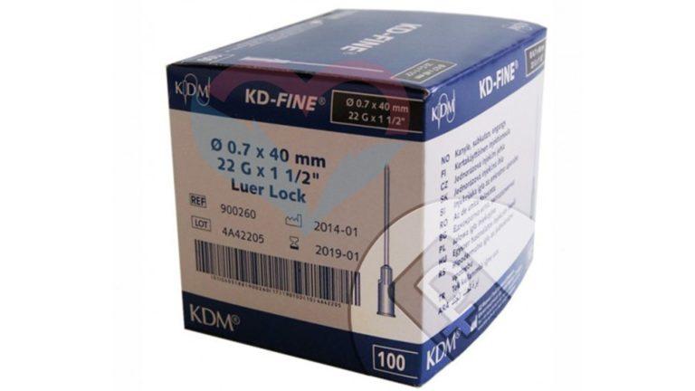 KD-Fine Игла одноразовая инъекционная стерильная 22G (0