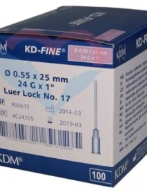 KD-Fine Игла одноразовая инъекционная стерильная 24G (0