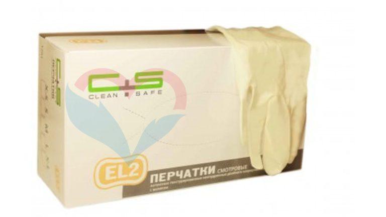 Clean+Safe №2 Перчатки латекс