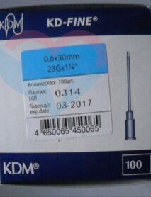 KD-Fine Игла одноразовая инъекционная стерильная 23G (0