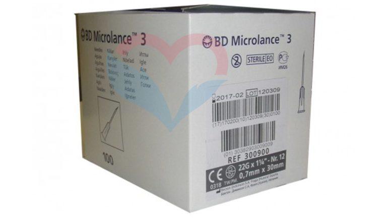 BD Microlance Игла одноразовая инъекционная стерильная 22G (0