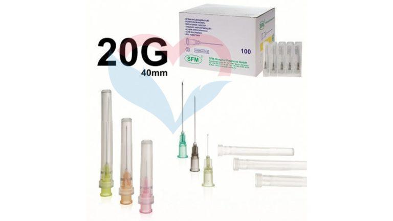 SFM Игла одноразовая инъекционная стерильная 20G (0